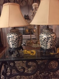 White and brown table lamp Deer Park