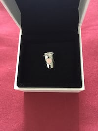 Sterling Silver Coffee Lovers Charm  557 km