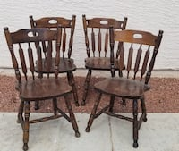 $25 four med size Wooden Chairs lots of scratches.. Las Vegas