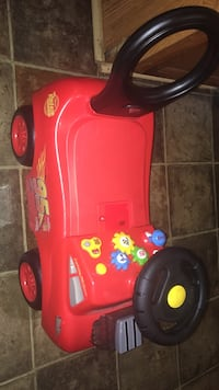 Toddler's red ride on toy car