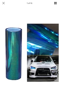 "Chameleon headlight wrap vinyl roll 12"" by 78"""