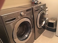 LG Gray front-load clothes washer and dryer set Brossard, J4Z 0H8