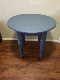 round blue wooden side table Austin, 78745