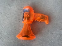 orange plastic toy
