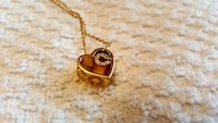 gold-colored heart pendant Vaughan