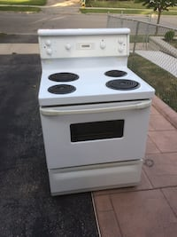 white and black 4-coil electric range oven Toronto, M9B 5Z7