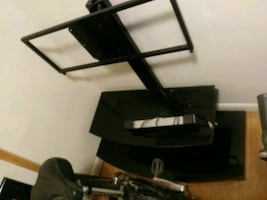 T.v. stand and 2 shelves