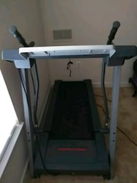 gray and black automatic treadmill 10 km