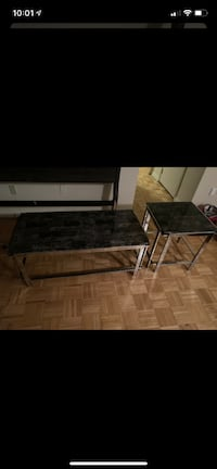 Leon's Marble and Chrome Coffee Table and Side arable Toronto, M9R 3T5