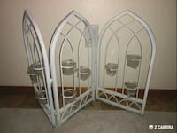 White Rod Iron Candle Holder.  College Place, 99324