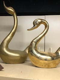 2 Solid brass antique ducks/geese/swan (buy both or one) $25 each  Cleveland, 44111