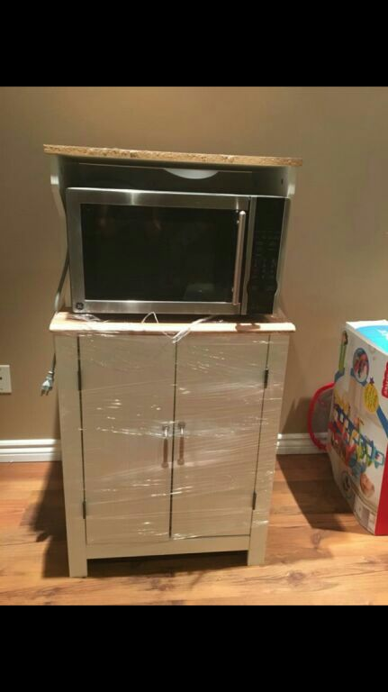 A Great Microwave With A Microwave Cart