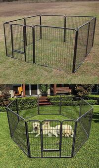 New in box 32 inch tall x 32 inches wide each panel x 8 panels exercise playpen fence safety gate dog cage crate kennel for pet Whittier, 90605