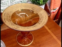 Old Venetian Gold Filigree Compote  West Chester, 45069