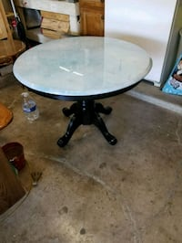 Blue marble finish round table Copperas Cove, 76522