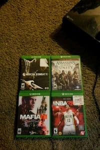 four Xbox One game cases Beltsville, 20705