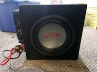 Alpine 12 inch sub with amp and capacitor  Newton, 07860