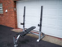 Olympic Weight Bench-Squat Machine - Fitness Gear!! MURRYSVILLE