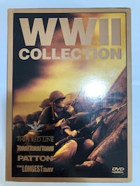 WWII Collection dvds- Tora x 3, Patton, The Longest day,Thin Red Line  Toronto, M4A 1K7