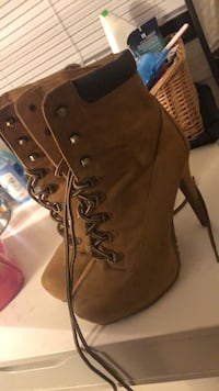 High Heel Timbs. Hardly ever worn! Size 9. Buena Park, 90620