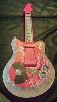 Barbie electric pink jam with me guitar