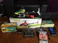 black and green helicopter with remote Saint-Romuald, G6W 2H9