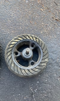 Goped tires. One hard rubber goped wheel/ tire and 2 tire/tube goped