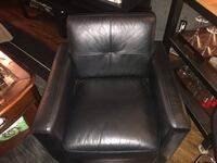 Leather chair from Structube - $170 with delivery in Toronto area. Toronto, M4J 1K7