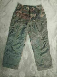 brown and black camouflage pants