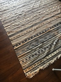black and white area rug 26 km