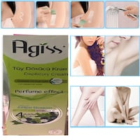 Agiss Natural Juniper Blossom Painless Hair Removal Depilatory Cream For Face Pubic Armpit Arm Leg Body 100ml TORONTO
