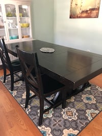 rectangular black wooden dining table Akron, 44302