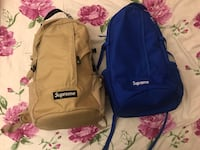 Supreme ss18 Blue and Tan backpack 3750 km