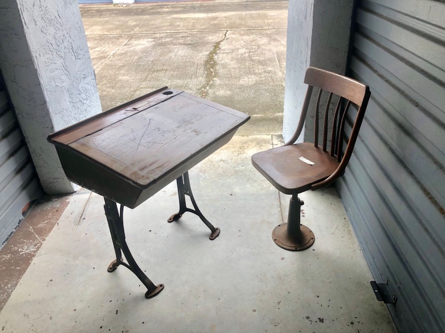 Vintage School Desk U0026 Chair Set