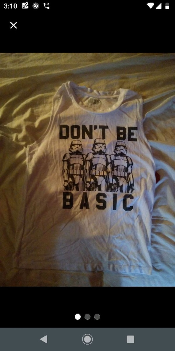 Tank top Star wars, white and black