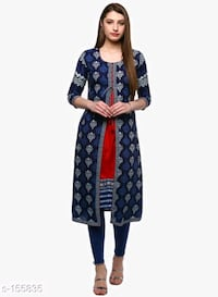 women's blue and white floral dress Thane, 400601
