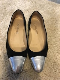 Chanel suede flats