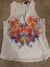 white and red floral tank top Raeford, 28376