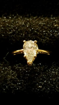 gold-colored clear gemstone encrusted ring Abbottstown, 17301