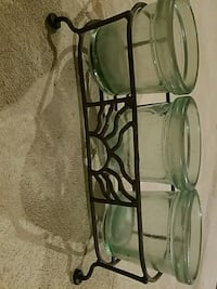 clear glass candle holders Kouts, 46347