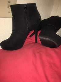 Pair of black leather boots Stockton, 95219