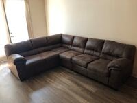 black leather sectional sofa with ottoman 1959 mi