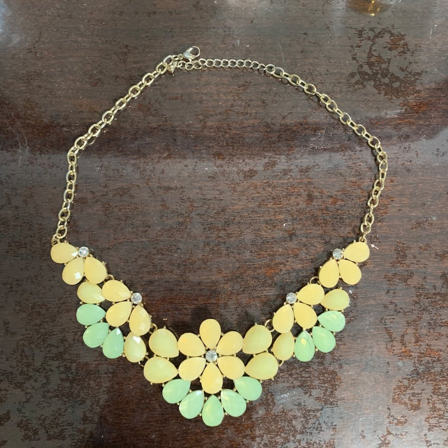Chunky Collar Necklace, Beautiful Soft Colors