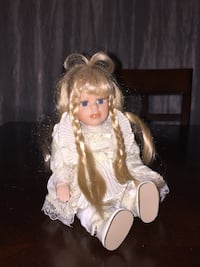 Seated Collectible Porcelain Doll Zebulon, 27597