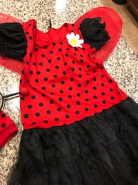 Girl's red and white polka dot lady bug costume  Bakersfield, 93313