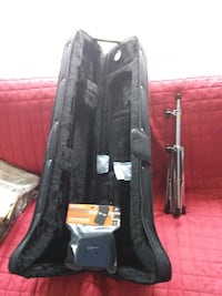 Trombone case ,stand and mouthpiece pouch