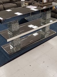 Glass Glam console table