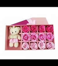 Romantic scented bath soap 12pcs with bear doll Coquitlam, V3K 1G6