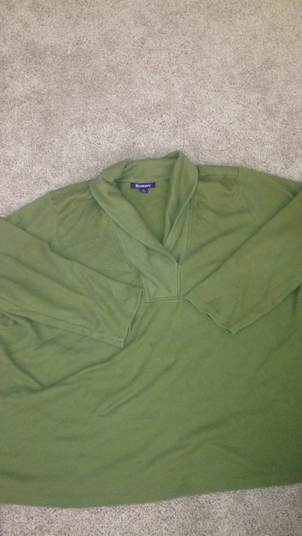 Olive Green Plus Size Sweater