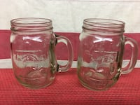 two clear glass mason jars with handle Lancaster, 93536